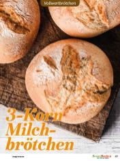 Rezept - 3-Korn-Milchbrötchen - Vollkorn Backen mit Tommy Weinz – 01/2020
