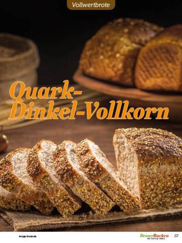 Rezept - Quark-Dinkel-Vollkorn - Vollkorn Backen mit Tommy Weinz – 01/2020