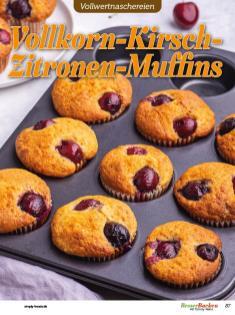 Rezept - Vollkorn-Kirsch-Zitronen-Muffins - Vollkorn Backen mit Tommy Weinz – 01/2020