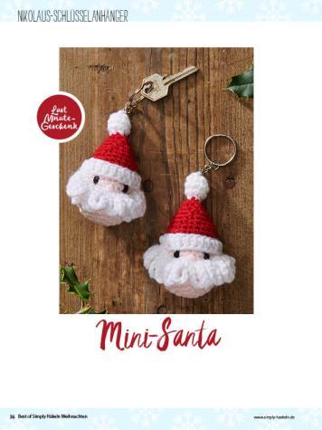 Häkelanleitung: Santa-Schlüssel-Anhänger – simply häkeln Weihnachts-Special 0120