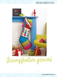 Häkelanleitung: Strumpfhalter – simply häkeln Weihnachts-Special 0120