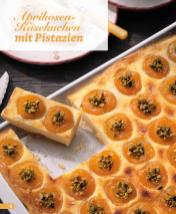Rezept - Aprikosen-Käsekuchen mit Pistazien - Simply Backen Blechkuchen – 03/2020