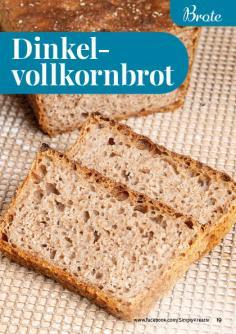 Rezept - Dinkelvollkornbrot - Simply Backen kompakt Brote 04/2020
