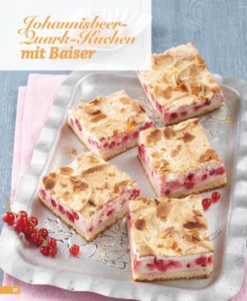 Rezept - Johannisbeer-Quark-Kuchen mit Baiser - Simply Backen Blechkuchen – 03/2020