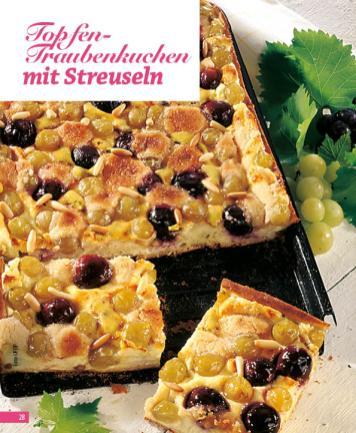 Rezept - Topfen-Traubenkuchen mit Streuseln - Simply Backen Blechkuchen – 03/2020