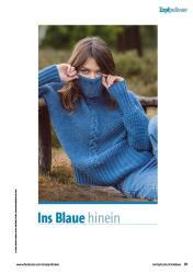 Strickanleitung - Ins Blaue hinein - Fantastische Herbst-Strickideen 05/2020