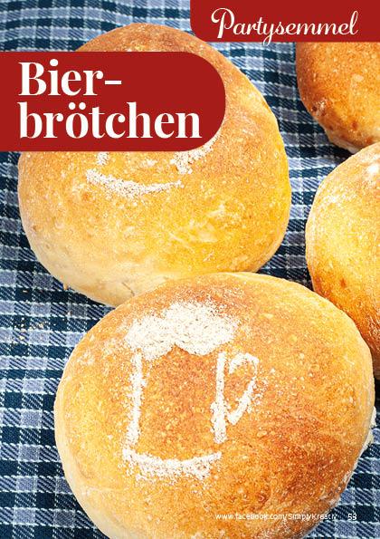 Rezept - Bierbrötchen - Simply Backen kompakt Brötchen – 01/2020