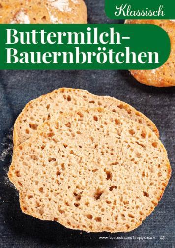 Rezept - Buttermilch-Bauernbrötchen - Simply Backen kompakt Brötchen – 01/2020