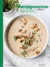 Rezept - Champignoncremesuppe mit Thymian - Simply Kochen Weihnachten 01/2020