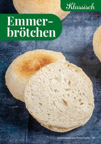 Rezept - Emmerbrötchen - Simply Backen kompakt Brötchen – 01/2020