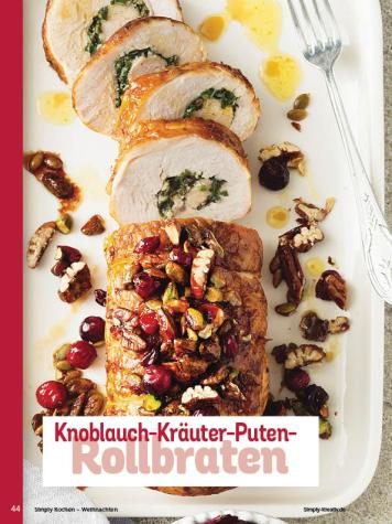 Rezept - Knoblauch-Kräuter-Puten-Rollbraten - Simply Kochen Weihnachten 01/2020