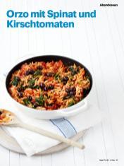 Rezept - Orzo mit Spinat und Kirschtomaten - Vegan Food & Living – 05/2020