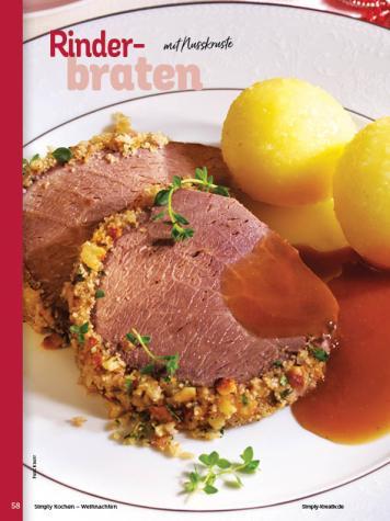 Rezept - Rinderbraten mit Nusskruste - Simply Kochen Weihnachten 01/2020