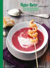 Rezept - Rote-Bete-Suppe mit Scampispieß - Simply Kochen Weihnachten 01/2020