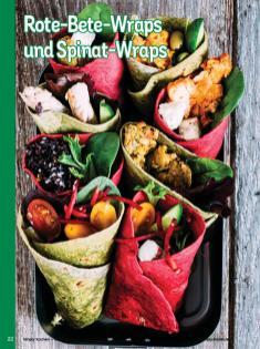 Rezept - Rote-Bete-Wraps und Spinat-Wraps - Simply Kochen Weihnachten 01/2020