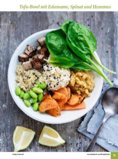 Rezept - Tofu-Bowl mit Edamame, Spinat und Hummus - Simply Kochen Sonderheft: One-Pot-Gerichte