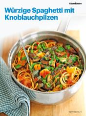 Rezept - Würzige Spaghetti mit Knoblauchpilzen - Vegan Food & Living – 05/2020