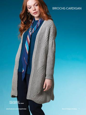 Strickanleitung - Brioche-Cardigan - Best of Designer Knitting 01/2021