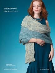 Strickanleitung - Zweifarbiges Brioche-Tuch - Best of Designer Knitting 01/2021