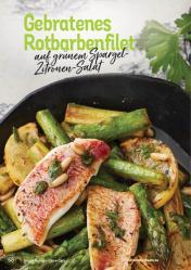 Rezept - Gebratenes Rotbarbenfilet auf grünem Spargel-Zitronen-Salat - Simply Kochen Kompakt Low Carb 01/2021