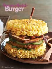 Rezept - Ramen-Nudel-Burger - Simply Kochen Nudeln 04/2020