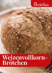 Rezept - Weizenvollkorn-Brötchen - Simply Backen kompakt Vollkorn – 01/2021