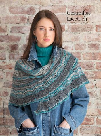 Strickanleitung - Gestreiftes Lacetuch - Best of Designer Knitting 02/2021