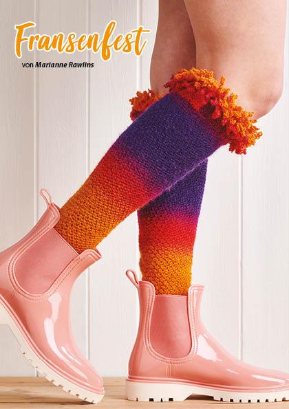 Häkelanleitung - Fransenfest - Simply Häkeln Kompakt Sonderheft Socken 01/2021