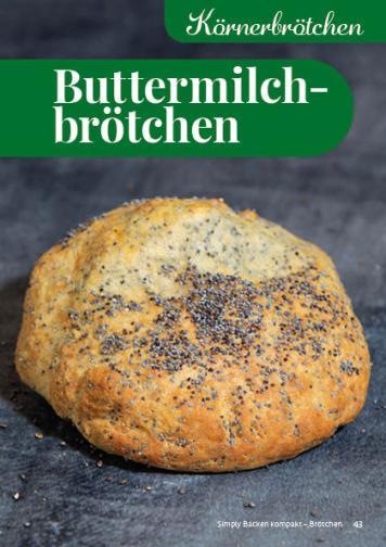 Rezept - Buttermilchbrötchen - Simply Backen Kompakt Brötchen 02/2021