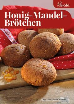 Rezept - Honig-Mandel-Brötchen - Simply Backen Kompakt Brötchen 02/2021