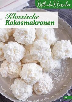 Rezept - Klassische-Kokosmakronen - Simply Backen Kekse 04/2020