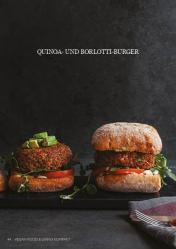 Rezept - Quinoa- und Borlotti-Burger - Vegan Food & Living Kompakt – 01/2021