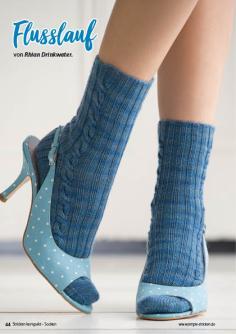 Strickanleitung - Flusslauf - Simply Stricken Kompakt Sonderheft Socken 02/2021