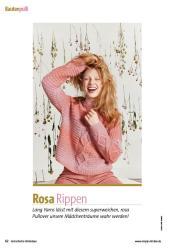 Strickanleitung - Rosa Rippen - Fantastische Strickideen Sonderheft 01/2021