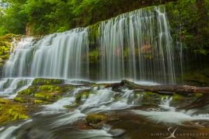 dramatic waterfall Welsh waterfall