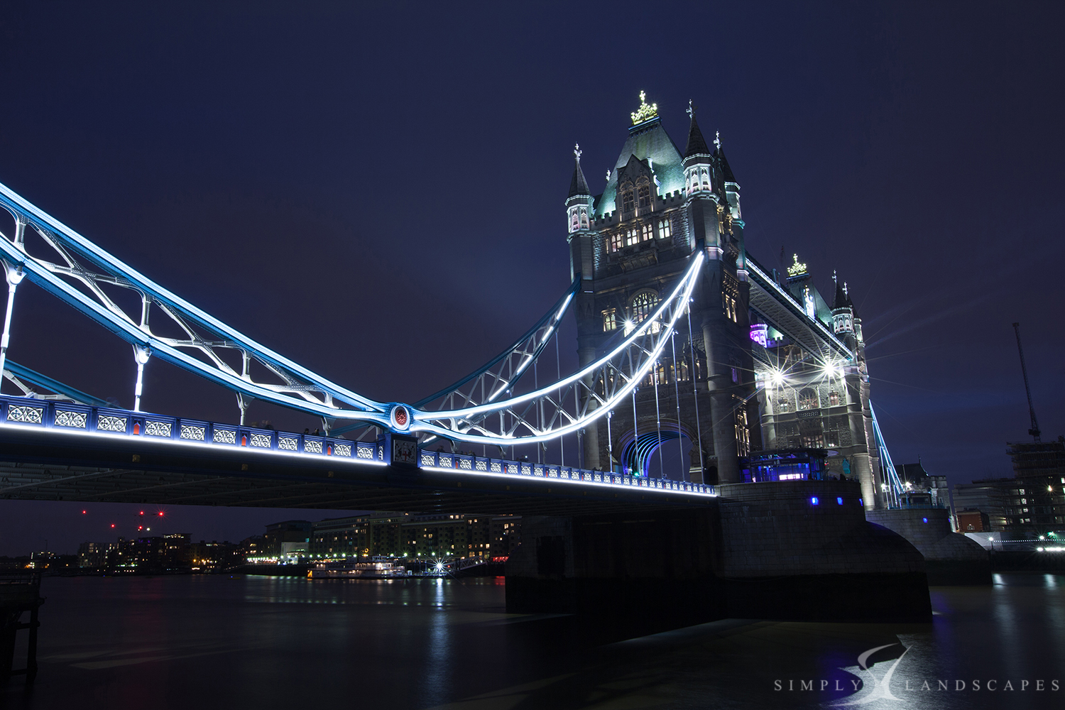 Tower Bridge lights up