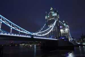 Tower Bridge lights up