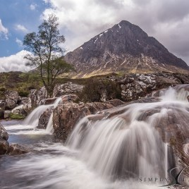buachaille etive mor waterfalls