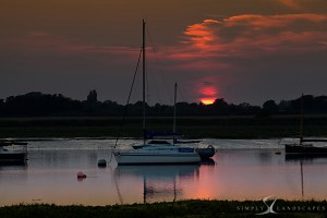 Bosham channel sunset