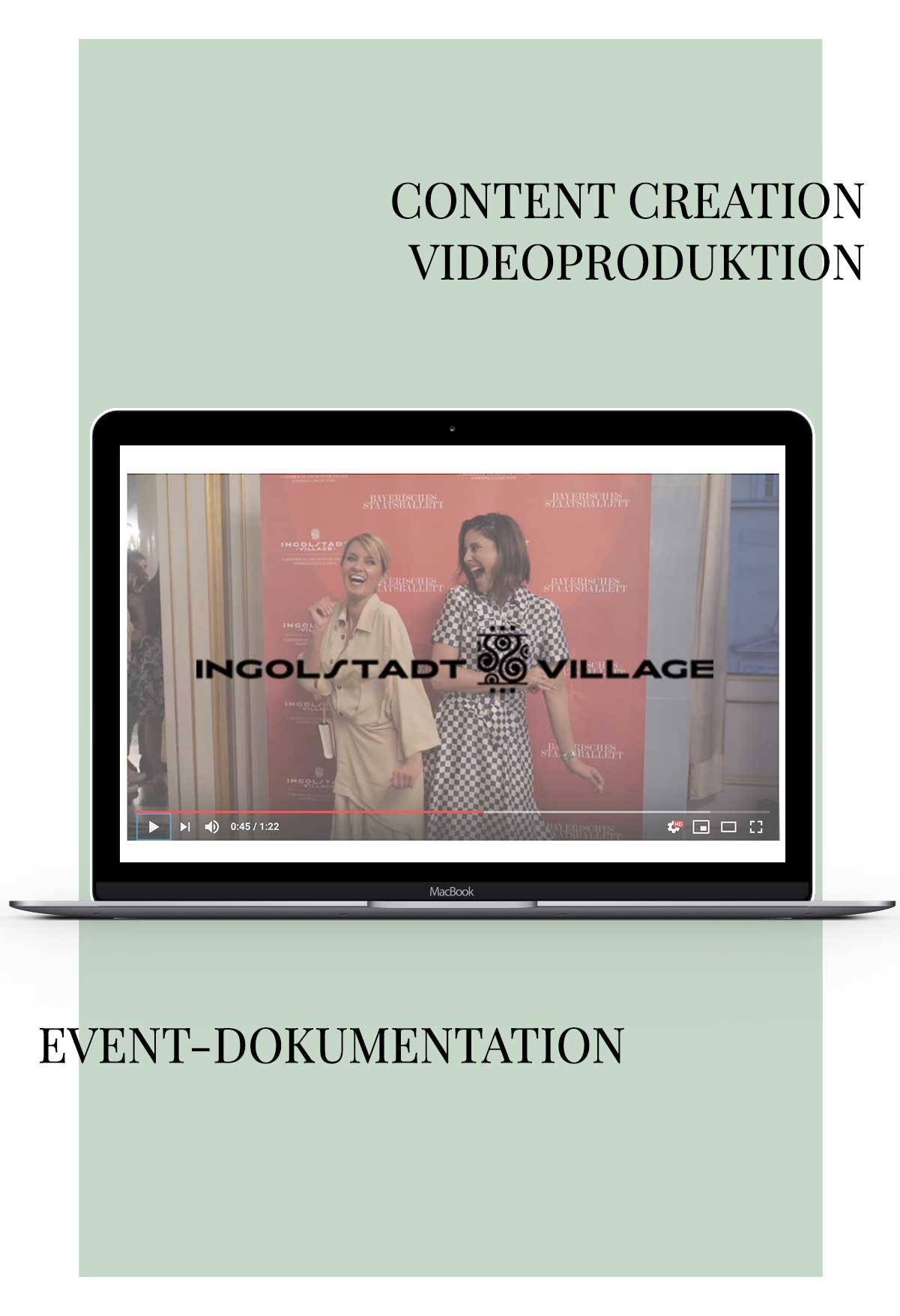 Videoproduktion für Ingolstadt Village für Social Media