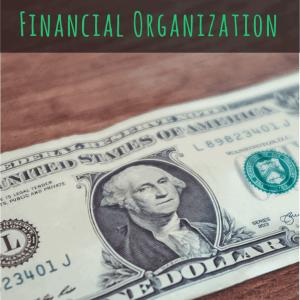 Three Simple Steps to Financial Organization