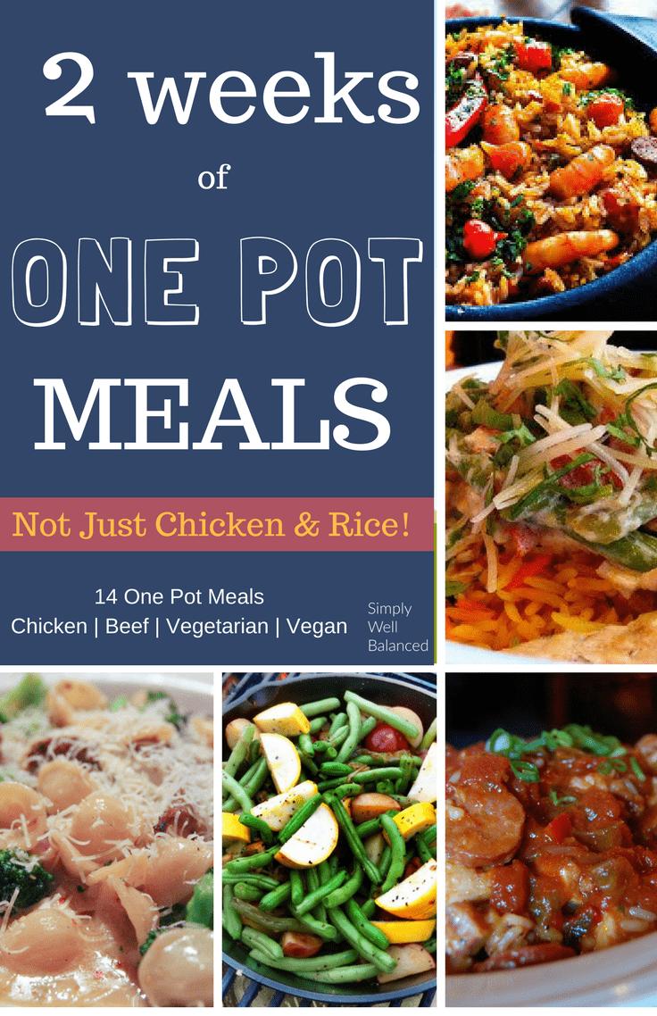 14 days of One Pot Meals | Easy Dinner Recipes | Quick and Easy Dinner Recipes | One pot vegan meals | One pot vegetarian meals