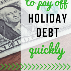 Simple Ideas to Pay Off Holiday Debt
