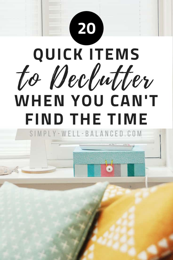 Feeling completely overwhelmed by your messy house? Learn how to quickly declutter your home using a printable checklist to keep you on track. Grab the free printable checklist inside to become clutter free fast. Decluttering room by room can take forever. Instead, your first step should be to simplify and get rid of items that you no longer need. Practical tips to declutter your home inspired by minimalism. #declutter #clutterfree #simplicity #organize #minimalism