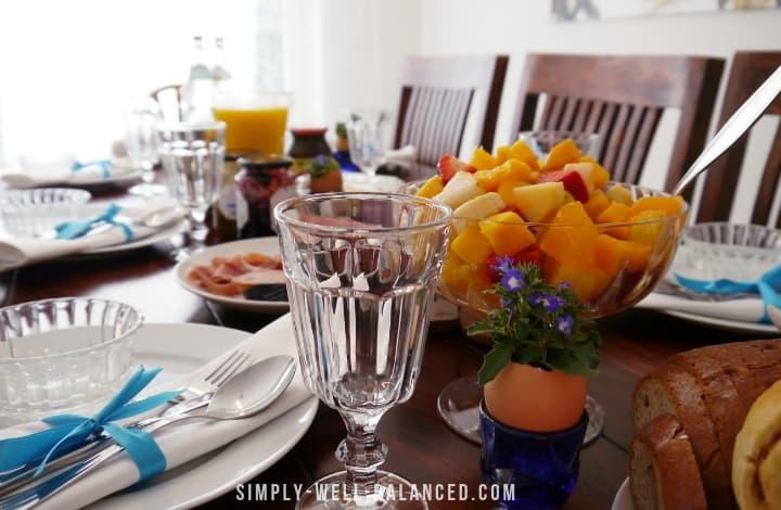 Table Set for Easter Morning Brunch