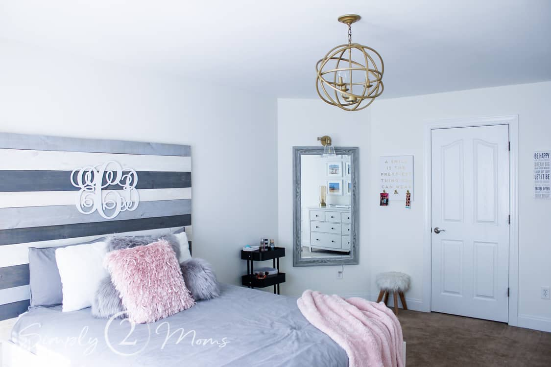 Teen Girl Bedroom Makeover | Final Reveal | Simply2moms on Teen Rooms Girl  id=89636