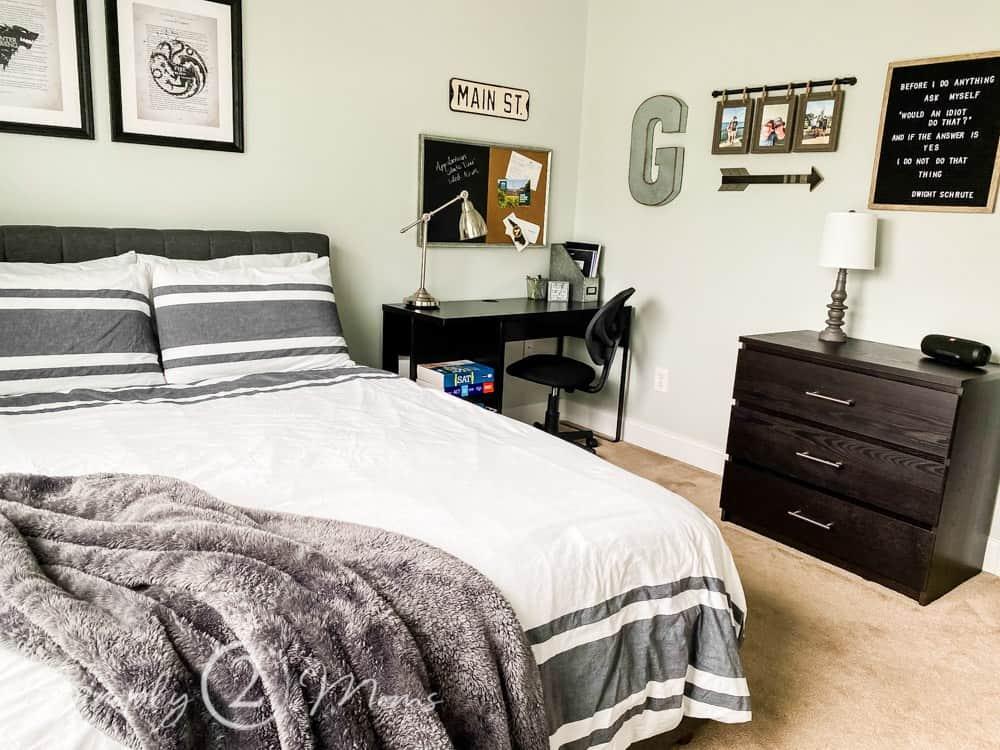 Teen boy bedroom wall decor   Simply2moms on Teen Room Decor  id=33522
