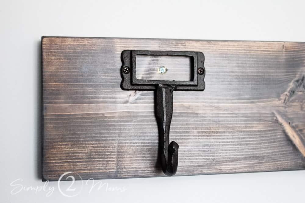 farmhouse coat rack in 5 simple steps