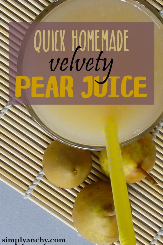 Pear Juice is healthy and refreshing drink, and it is really easy to make it yourself. | Healthy Food Recipes | simplyanchy.com