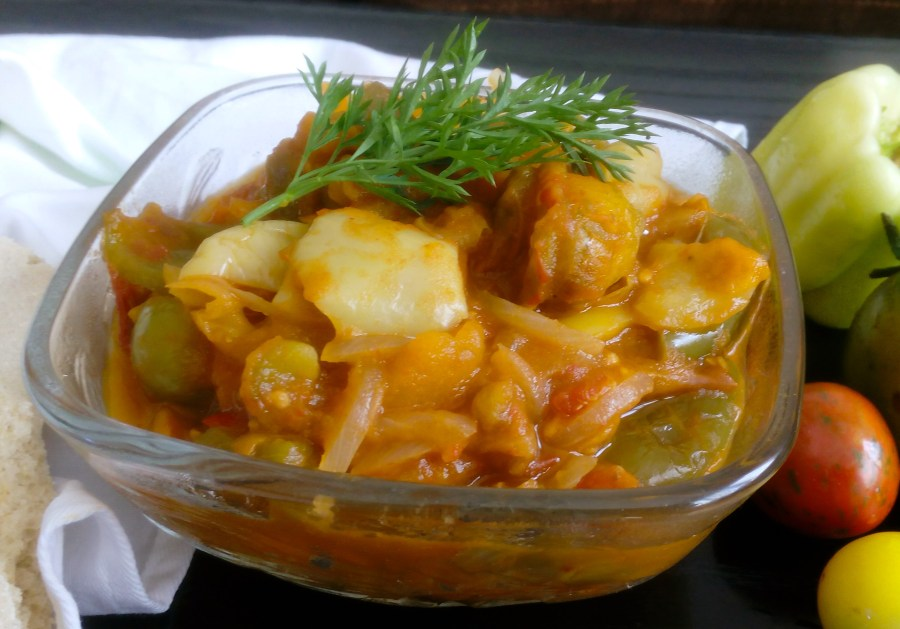 Satarash is simple and delicious vegan dish. You only need three simple ingredients - tomatoes, onions and bell peppers, and you can enjoy it as it is, or as a side dish. | Healthy Food Recipes | simplyanchy.com